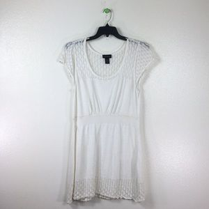 Lane Bryant women's midi dress 18/20 white ramie